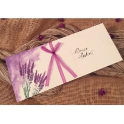 Invitatie de Nunta cu model Floral Lavanda 52532