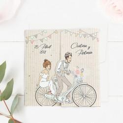 Invitatie de Nunta si Botez Bicicleta Familiei moderne 39714