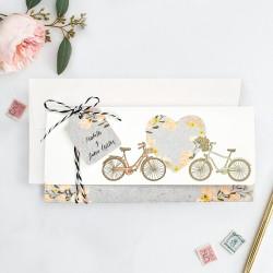 Invitatie de Nunta cu Poza si Biciclete pentru Indragostiti 39717