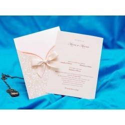 Invitatie de Nunta cu Model Elegant Catifea 5471