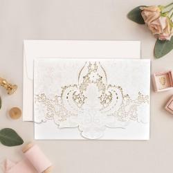 Invitatie de Nunta Deosebita cu Motiv floral Decupat 39750