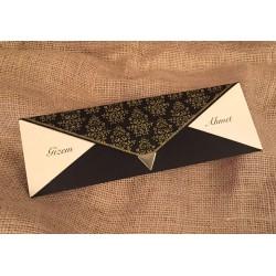 Invitatie de Nunta Vintage negru-auriu 20222