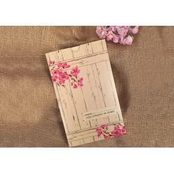 Invitatie de Nunta Deosebita cu Motiv Floral Flori de Cires 41410