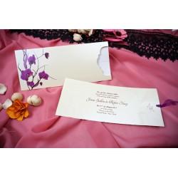Invitatie de Nunta eleganta cu Orhidee Mov 41415