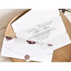 Invitatie de Nunta cu Model Floral Elegant 39763