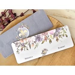 Invitatie de Nunta Eleganta cu Iris Imperial 39765