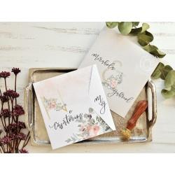 Invitatie de Nunta Eleganta cu Model Floral 39770