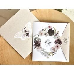 Invitatie de Nunta cu Model Floral Tomnatic 39774