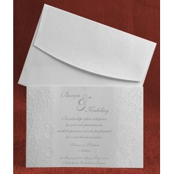 Invitatie de nunta cu model floral 5287
