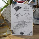 Invitatie de Nunta Game of Thrones