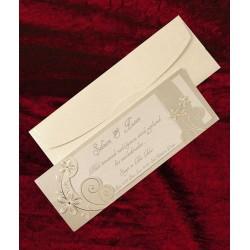 Invitatie de nunta eleganta cu flori 5308