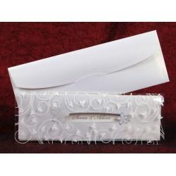 Invitatie de nunta eleganta cu model floral 5342