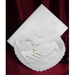 Invitatie de nunta inima 5364
