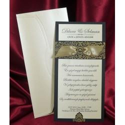 Invitatie de nunta vintage 5365