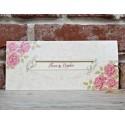 Invitatie de Nunta cu Motiv Floral roz Elegant 5653