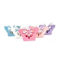 Marturie Cutiuta Fluture mov-lila