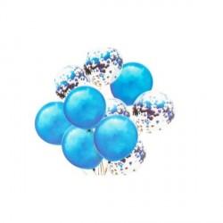 Set 10 Baloane colorate si albe cu Confetti Sclipici - Decor Eveniment