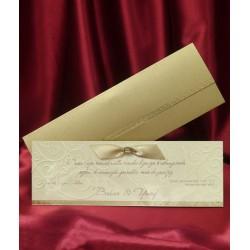 Invitatie de nunta eleganta cu fundita 5379