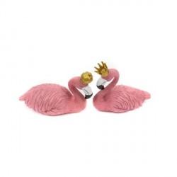 Ornament Flamingo Roz Rege si Regina - Decor Eveniment