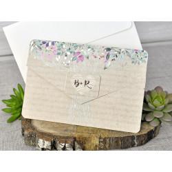 Invitatie de Nunta Eleganta cu Copac si Model Floral 39303