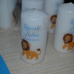 Marturie de Botez Lumanare Personalizata cu Simba Regele Leu