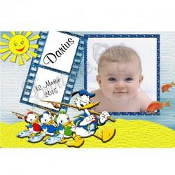"""Marturii de Botez Magnet cu ratoiul """"Donald Duck"""""""