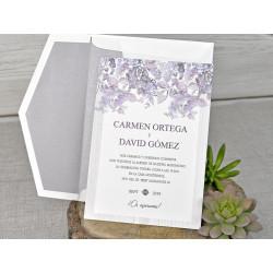 Invitatie de Nunta Eleganta cu Motiv Floral 39320