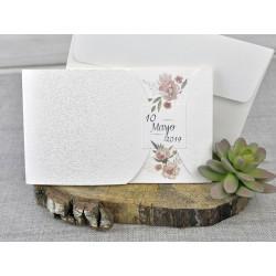 Invitatie de Nunta Eleganta cu Model Floral 39331