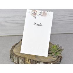 Meniu de Nunta Elegant cu Motiv Floral 6318