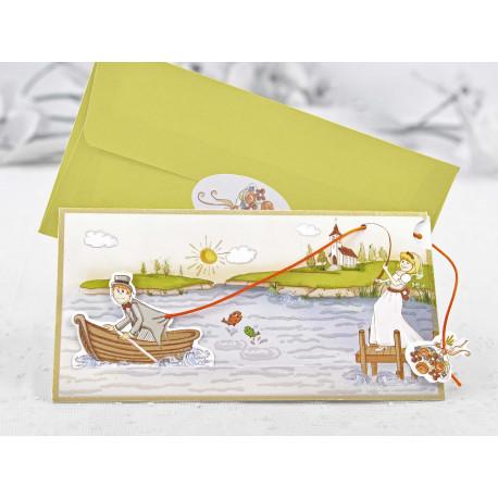 Invitatie de Nunta Haioasa Mire si Mireasa la Pescuit 32405