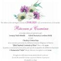 Invitatie de nunta electronica florala