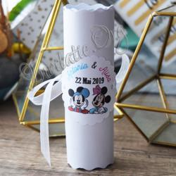 Invitatie pentru gemeni Mickey Mouse si Minnie Mouse