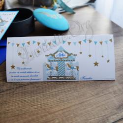 Plic de bani carusel bleu
