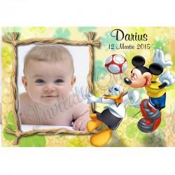 Marturii de Botez Magnet cu Mickey Mousse si Donald Duck