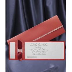 Invitatie de nunta eleganta cu fundita 5390