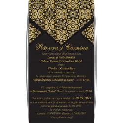 Invitatie de nunta electronica gold