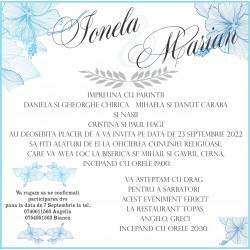 Invitatie de nunta electronica cu Flori de Hibiscus