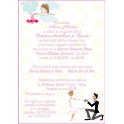Invitatie electronica nunta si botez barza