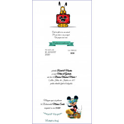 Invitatie electronica botez Mickey Mouse