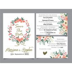 Invitatie de nunta electronica flori de mac