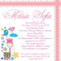 Invitatie electronica botez girafa roz