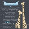 Invitatie electronica botez bleu cu girafe