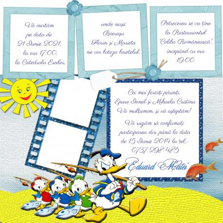 Invitatie electronica botez Donald Duck