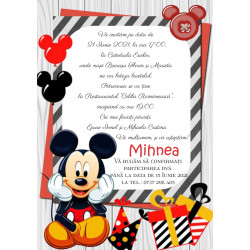 Invitatie electronica botez Mickey Mouse haios