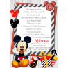 Invitatie electronica botez Mickey Mouse haios